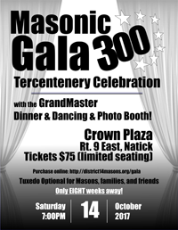 14th Masonic District - 300th Anniversary Dinner-Dance