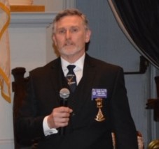 Right Worshipful Gordon Craig, District Deputy Grand Master for the 7th Masonic District
